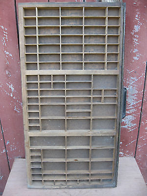Awesome Antique Hamilton Printers Tray with Metal Edging and Pull