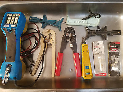 Lot of Telephone Lineman Tools Harris Dracon TS21 - HD8762 Impact Tool and more