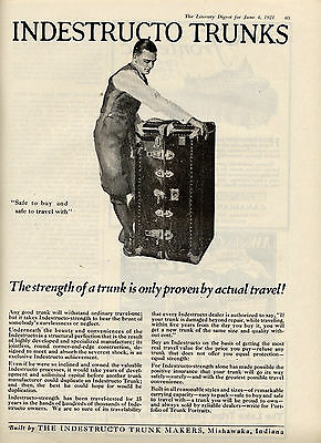 1921 Indestruto Trunks ad -luggage ad Only proven by actual travel-/534