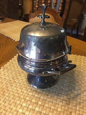 Meriden Silverplate Butter Dish