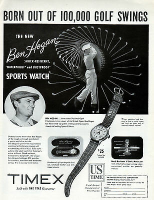 1950's Timex Watch ad Featuring Ben Hogan--p-191