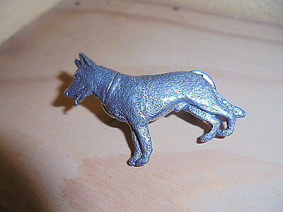 German Shepard Pin Dated  ((1989)) Fine Pewter Gg Harris Roughly 1 3/4 X 1 1/8