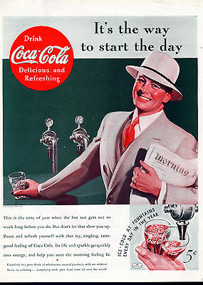 1935 Coca-Cola ad, coke ad, -The Way to Start the Day-703