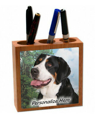Greater Swiss Mountain Dog    ( 13 )   Personalized  Pencil and Pen Holder