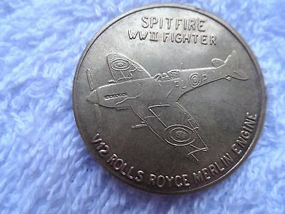 Australian War Memorial Canberra Spitfire Ww11 Fighter Token