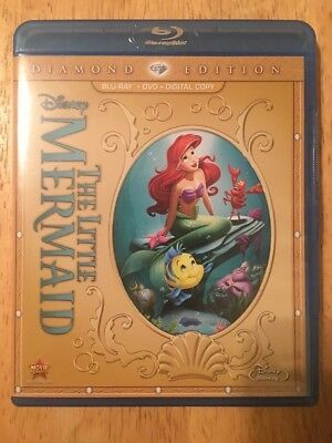 The Little Mermaid (Blu-ray/DVD, 2-Disc Set, Diamond Edition) No Digital Code
