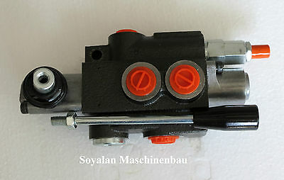 Hydraulic valve,Hand control valve 1 compartment 50 L/for Double action cylinder