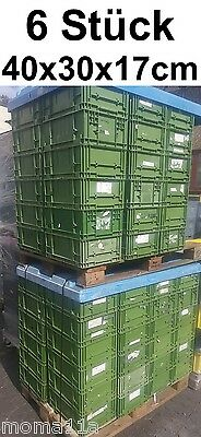 6 x Plastic Box Schäfer Transport Stackable Grid Storage lagerbox