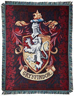 """Harry Potter Godric's Quest Woven Tapestry Throw 48"""" x 60"""" Red"""