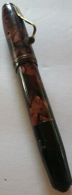Vintage Purple Marble Fifth Avenue Nib Fountain Pen FOR REPAIR Free Shipping