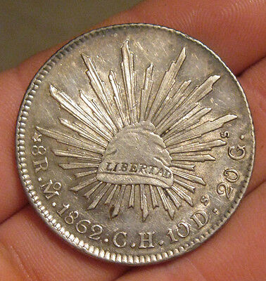 Mexico - 1862 MoCH Large Silver 8 Reales - Nice!