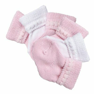 Trimfit Baby Girls Cotton Infant Bootie 6-Pack Pink / White L 6-12 months