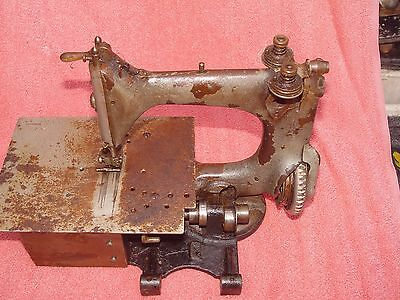 Rare Antique 1906 Model 24-4 Chain Stitch Singer Sewing Machine Industrial LOOK