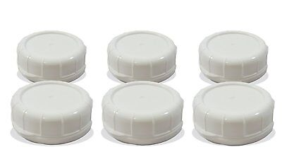Replacement Glass Milk Bottle Lids 48 mm Caps for Libbey and Stan-Pac 6 Pack Wh