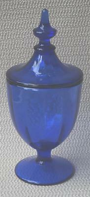 "Vinatge Cobalt Blue Glass Apothecary Jar 8½"" tall"