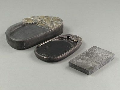 Calligraphy Tool 3 Different Shapes and Designs of Chinese Inkstones: BD009
