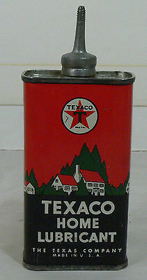 NICE Vintage Texaco Texas Company Home Lubricant Oil Can, Lead Spout, Colorful