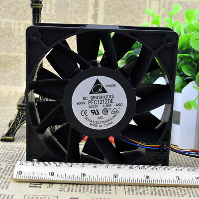PFC1212DE 4.8A 5000RPM 4Pin Cooling Fan Air Cooler for Antminer S7//S9//L3 Grace