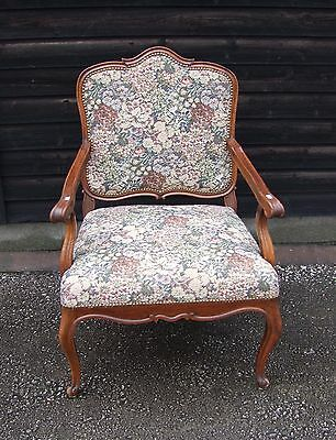 French Mahogany And Needlepoint Armchair - (C52)