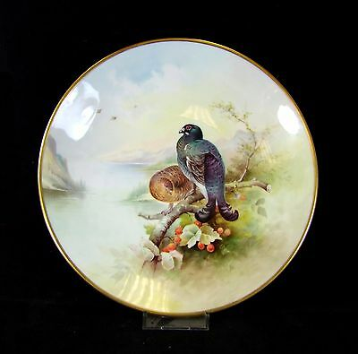 Hand Painted Minton Cabinet Plate - Black Game - Arthur Holland.