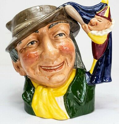 Royal Doulton Large Character Jug - Punch & Judy Man - D6590 - Made in England!