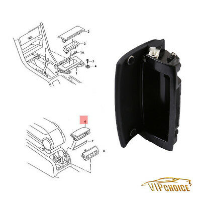 Black Cover Center Rear Console Ashtray Assembly For Audi A4 B6 B7 Seat