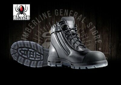 Redback Cobar USCBZS Lace Up / Zipup Side Safely Work Boots Black Scuffcap All S