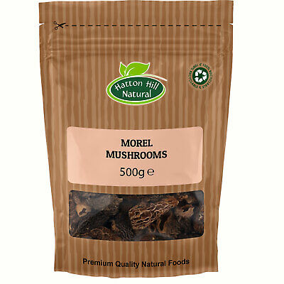 Dried Morel Mushrooms 500g - Free UK Delivery -
