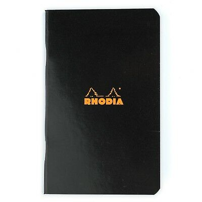 "Rhodia Classic Pocket Notebook A7 75x120 (3"" x 4-¾"") black cover graph squares"