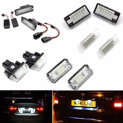2 x Car Rear License Light Auto Number Plate Lamp For Audi VW BMW Benz Opel