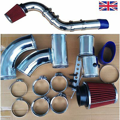 """3"""" Universal Performance Cold Air Filter Feed Induction Intake Pipe Hose Kit 76"""