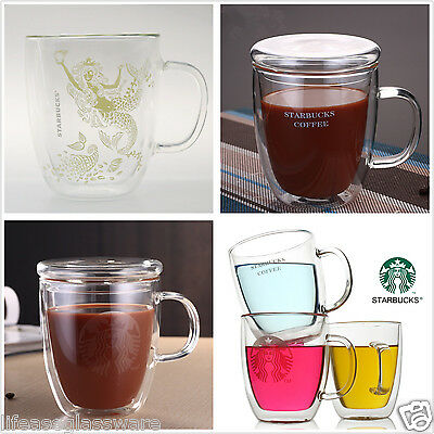 Starbucks Coffee Mug Double Wall Glass Tea Cup