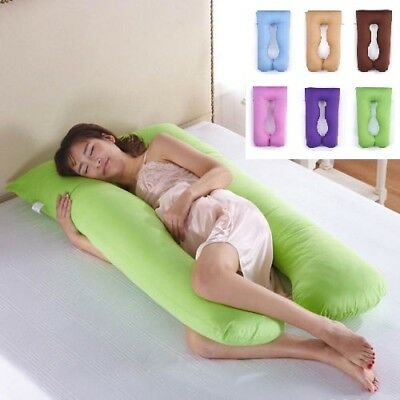 U Pillow Body/Bolster Support Maternity Pregnancy Comfort Support Pillow/Case