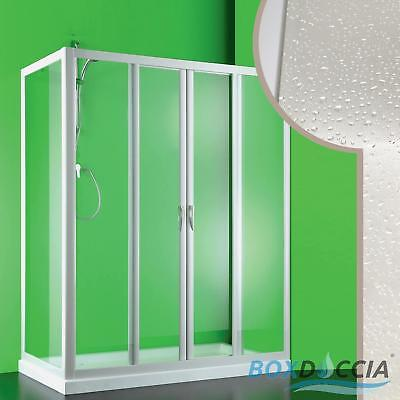 Shower Enclosure Cubicle Corner 2 Sliding Doors In Pvc Acrylic