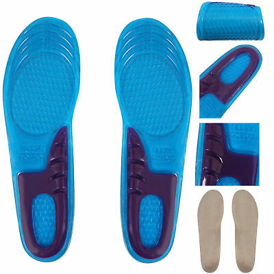 Work Boots Orthotic Foot Arch Heel Support Shoe Massaging Gel Insoles Inserts