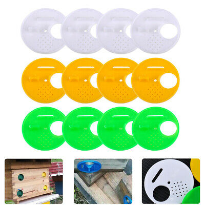 12pcs Beekeepers Bee Hive Nuc Box Entrance Gates Beekeeping Equipment 3 Colors