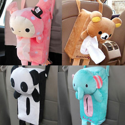 Lovely Car Home Rectangle Tissue Box Cover Holder Paper Box Bathroom Storage AY