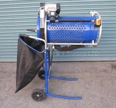 Rotary Soil Sieve. Ideal For Stone. Mattis Electric Rotary Sieve. Compost Sieve
