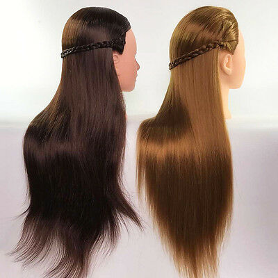 Cosmetology Salon Synthetic Hair Hairdressing Practice Training Head Mannequin