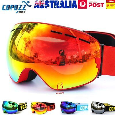 COPOZZ Ski Goggles Double Layers Anti-Fog Adult Snowboard Skiing Glasses UV400 B