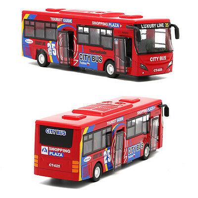 HI-Q Tour Bus Model Cars Sound&Light Sightseeing Diecast Toys Gifts High Quatily