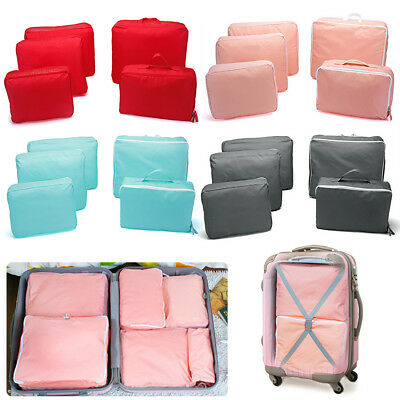 5pcs Packing Cube Pouch Travel Clothes Suitcase Storage Bags Luggage Organizer