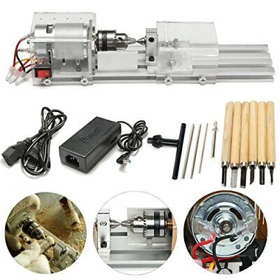 Mini Lathe Beads Polisher Machine 24V 100W  F Table Woodworking Wood DIY Tool