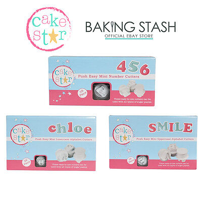 Cake Star Push Easy Cutters Upper & Lower Case Alphabet & Number - All Sizes