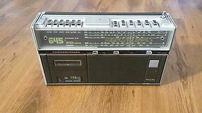 Vintage Philips 645 (22RR645) Radio Cassette Recorder (With Defects)