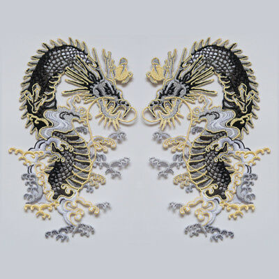 DIY Embroidered Patch Dragon Sew On Iron On Badge Shirt Fabric Applique Craft