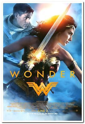 WONDER WOMAN - 2017 - original 27x40 D/S Movie Poster- FINAL Style - GAL GADOT