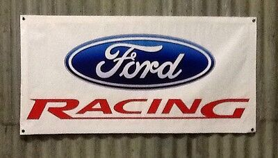 Large 1200mm X 600mm Shed, Man cave, Garage, Car, Ford Racing Banner