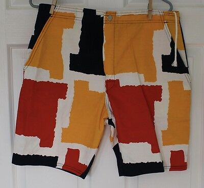 The GRUBB by Robert Bruce Shorts Size 34 RARE Vintage Made in USA Color Block
