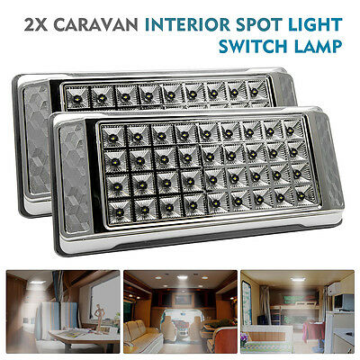 2x 12V 36 LED Interior Ceiling Cabin Spot Light For Caravan Camper Boat Light UK
